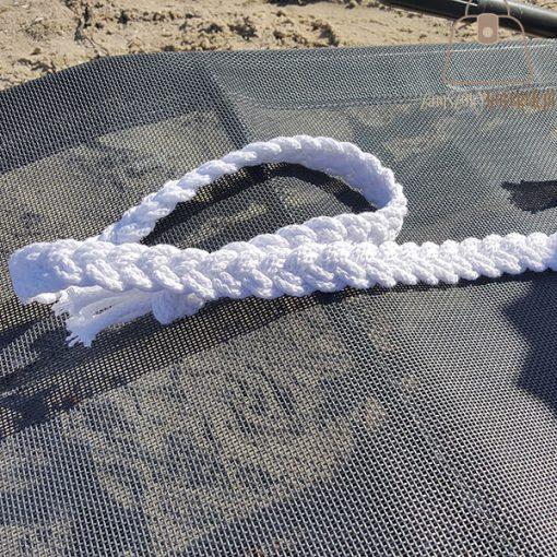 pasek pleciony sznur biały pkecionka