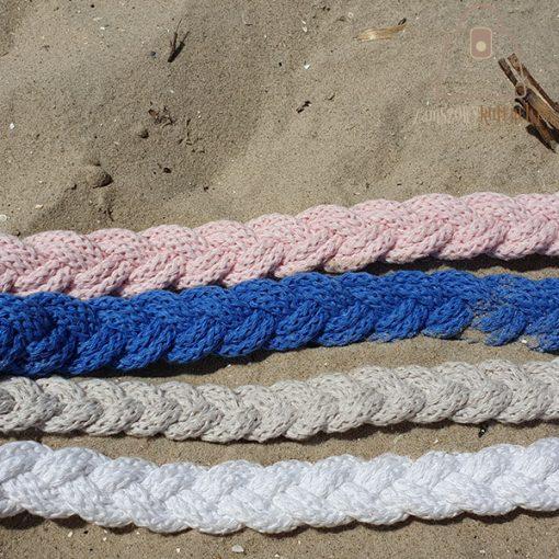 pasek pleciony sznur kolory zbliżenie