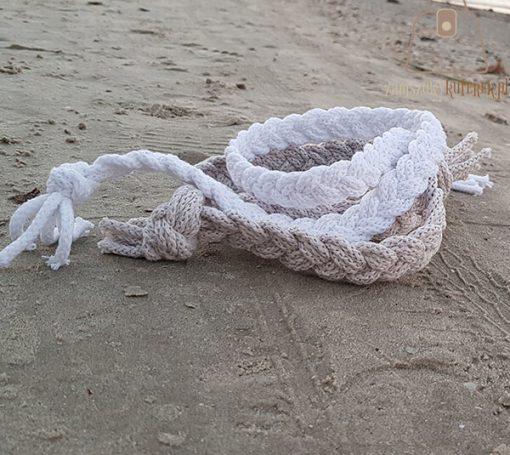 pasek pleciony sznur plaża