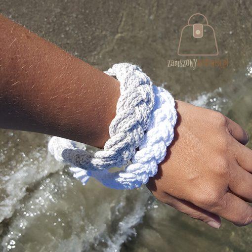 pasek pleciony sznur ręka