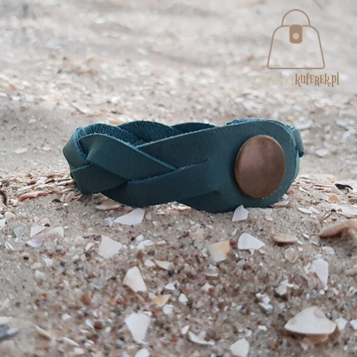 turkusowa bransoletka bok