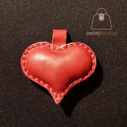 brelok serce czerwone
