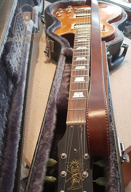 Skórzany pasek do gitary gładki