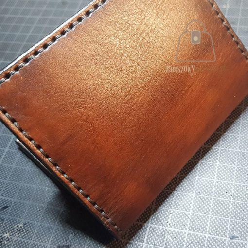 Skórzany portfel tłoczenie tył