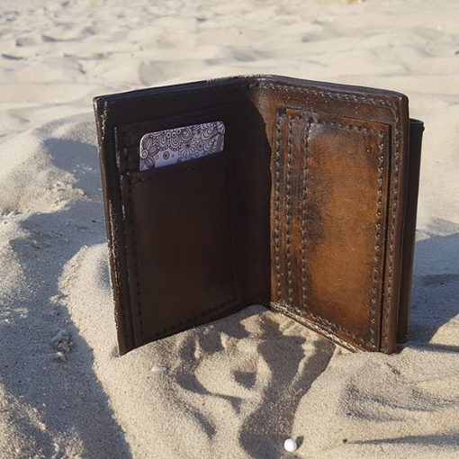 Skórzany portfel tłoczenie wzór 1