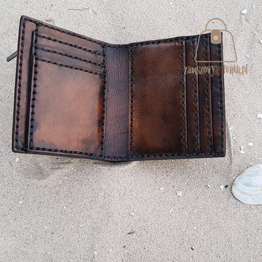 Skórzany portfel tłoczenie wzór 3