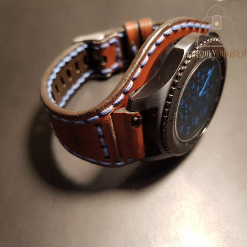 Skórzany pasek do smartwatch detal