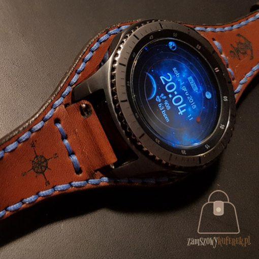 Skórzany pasek do smartwatch gear 3