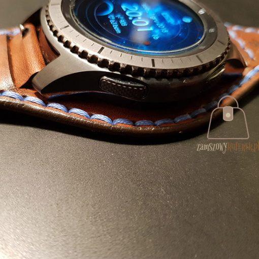 Skórzany pasek do smartwatch gear 3 bok