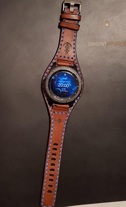 Skórzany pasek do smartwatch gear 3 cały