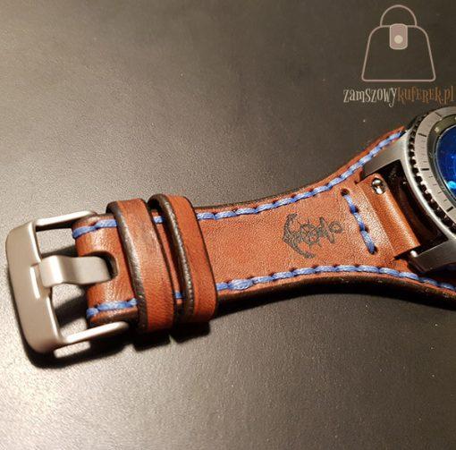 Skórzany pasek do smartwatch gear 3 kotwica
