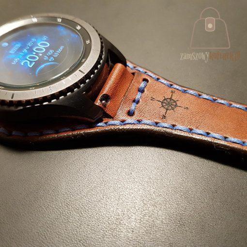 Skórzany pasek do smartwatch gear 3 logo