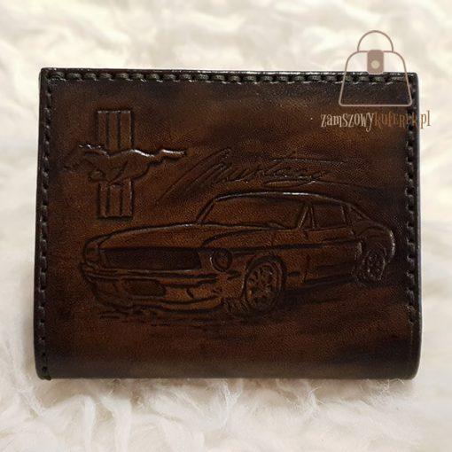 Skórzany portfel tłoczenie Ford samochód