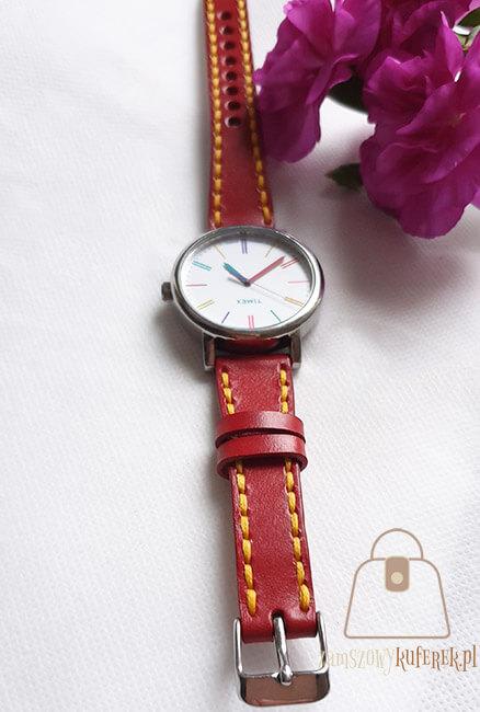 Pasek do zegarka damski klamerka