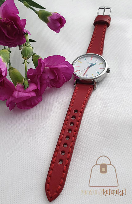 Skórzany pasek do zegarka damski