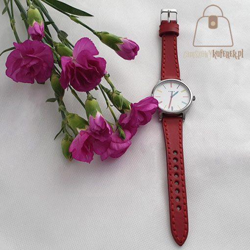 Skórzany pasek do zegarka damski detal
