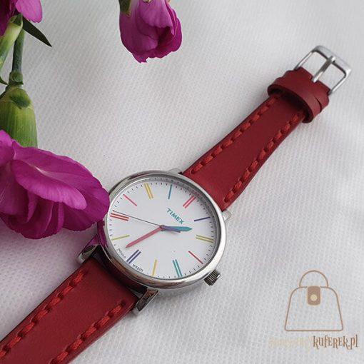 Skórzany pasek do zegarka damski klamra