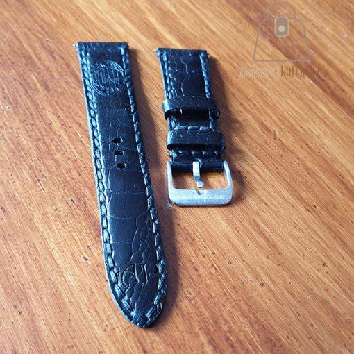 Skórzany pasek do zegarka łapa strusia detal