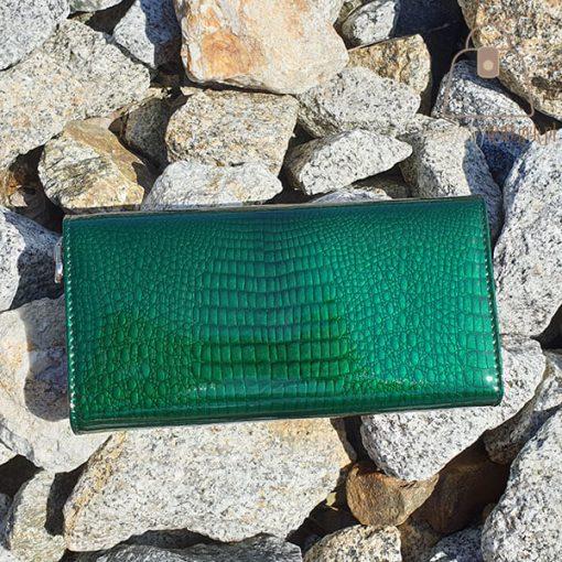 Portfel damski Gregorio zielony tył