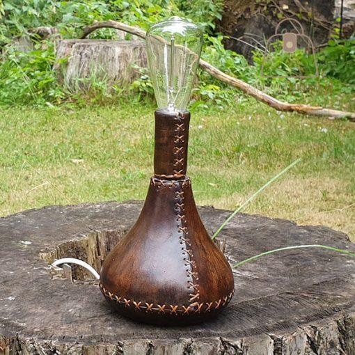 Skórzana lampka
