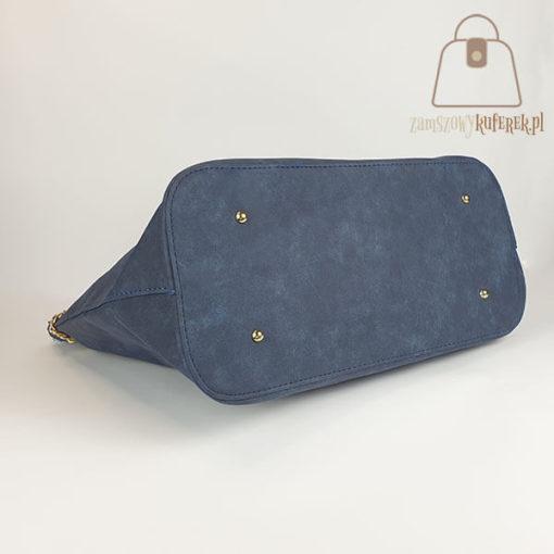 Granatowa torebka damska shopper bag dół