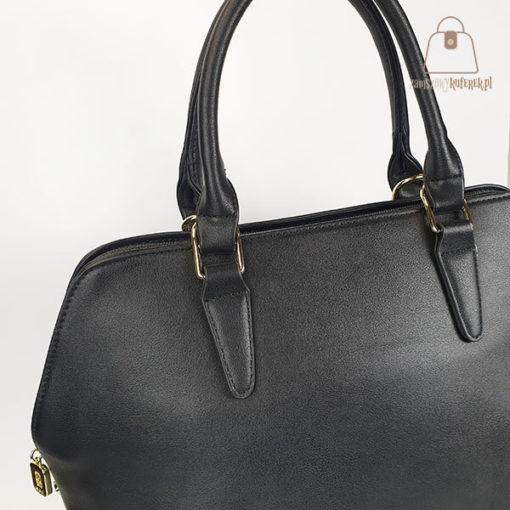 klasyczna torebka damska czarna detal