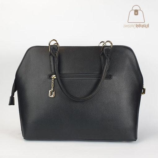 klasyczna torebka damska czarna tył