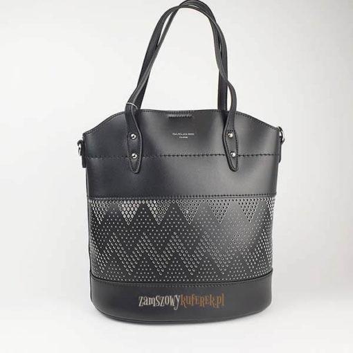 Ażurowana torebka damska z kosmetyczką