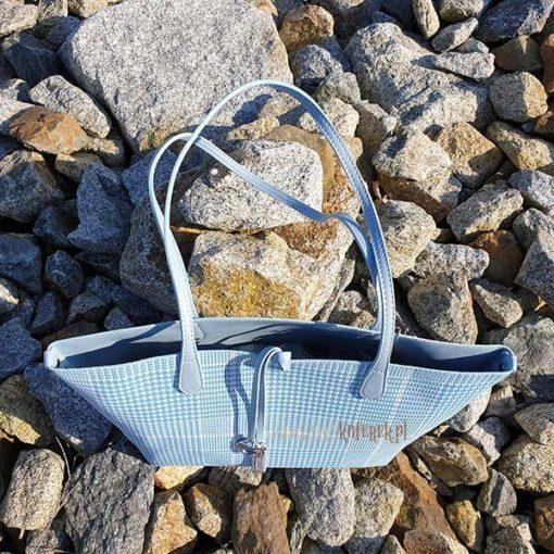 Błękitna torebka David Jones góra