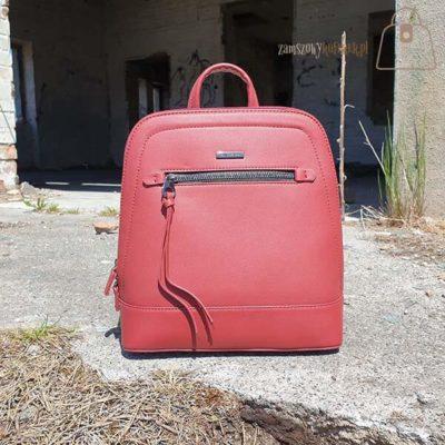 Bordowy plecak David Jones