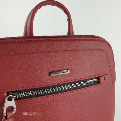 Bordowy plecak David Jonesdetal