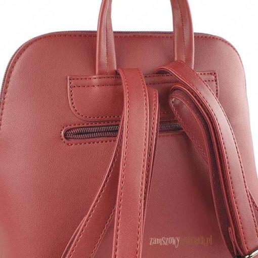 Bordowy plecak David Jones kieszonka