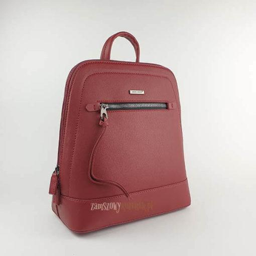 Bordowy plecak David Jones skos