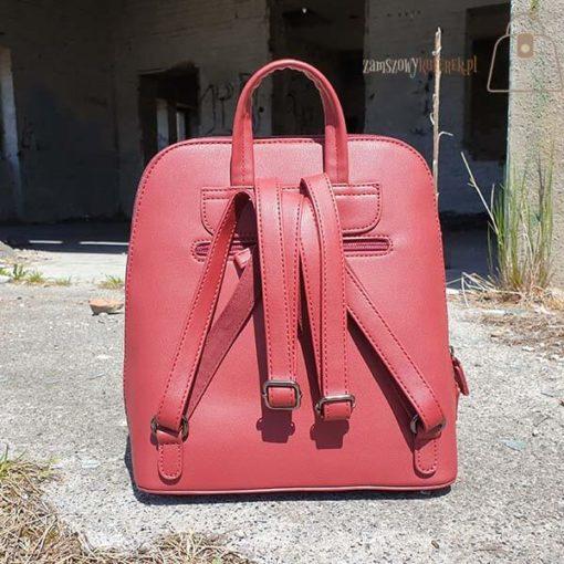 Bordowy plecak David Jones tył