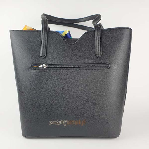 Czarna torebka David Jones tył