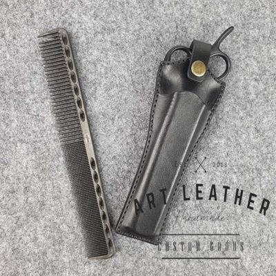Skórzane etui na barberskie nożyczki