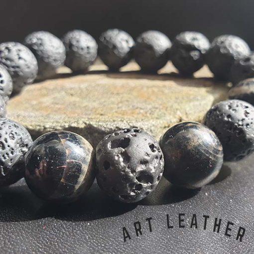 Bransoletka z kamieni naturalnych detal
