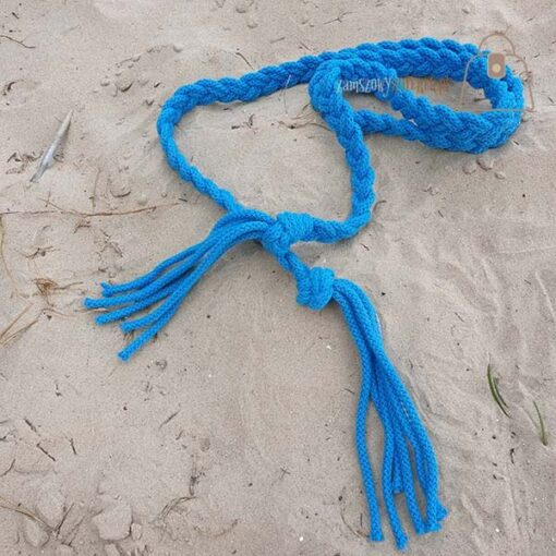 Pasek pleciony sznur morski zbliżenie