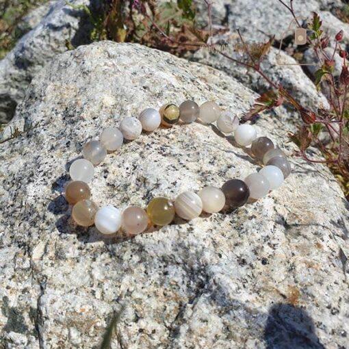 Agat botswana bransoletka kamien