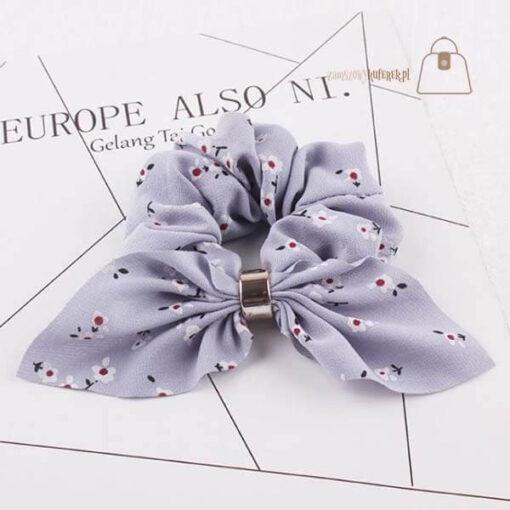 Gumka do włosów apaszka krótka fiolet