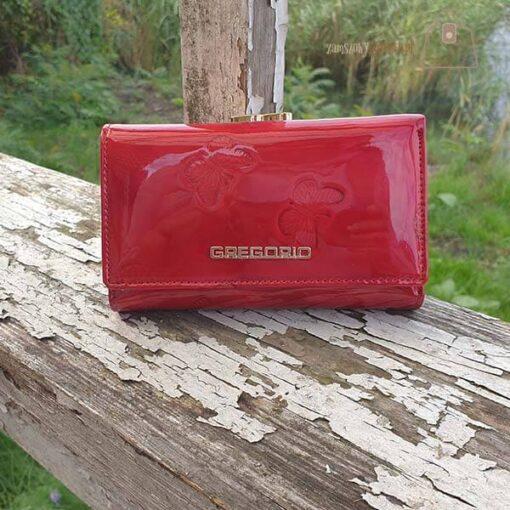 Gregorio portfel damski skórzany czerwony
