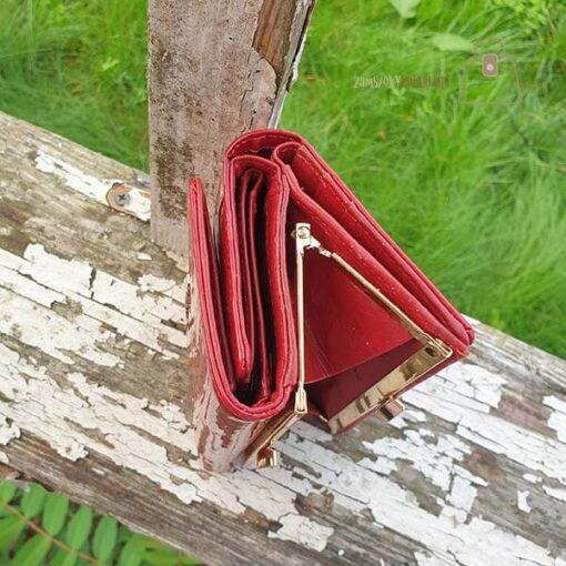 Gregorio portfel damski skórzany czerwony gora