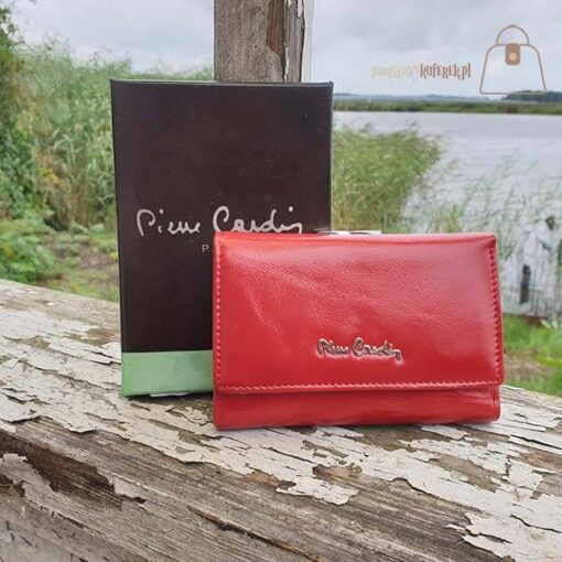 Mały Portfel Damski Pierre Cardin pudełko