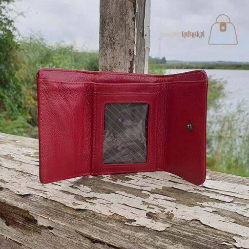 Mały portfel damski ze skóry Lorenti kieszonki