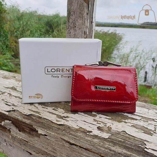 Mały portfel damski ze skóry Lorenti pudełko