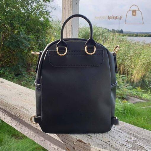 Czarny plecak 2w1 tył