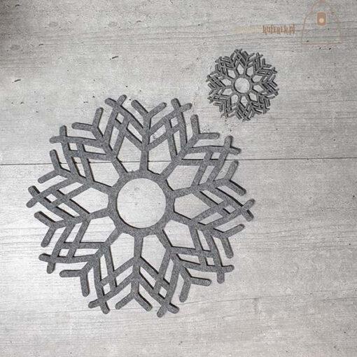 Podkładka filcowa śnieżynka komplet 01