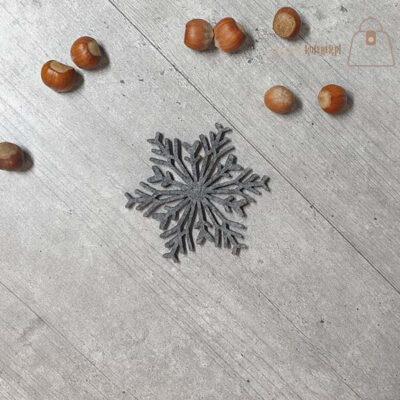 Podkładka filcowa śnieżynka kubek 02