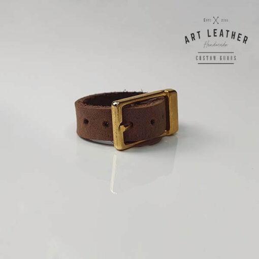 B2 skórzany pierścionek złota klamra klamra