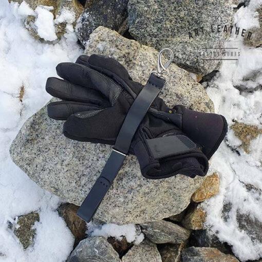 Skórzany pasek na rękawice tył